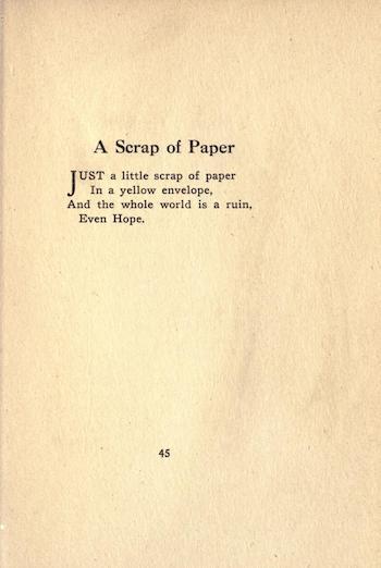 A Scrap of Paper by G.A. Studdert-Kennedy