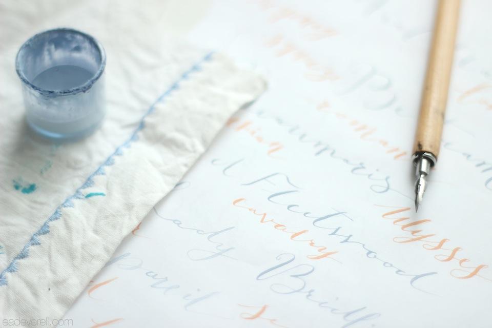 Gouache Calligraphy