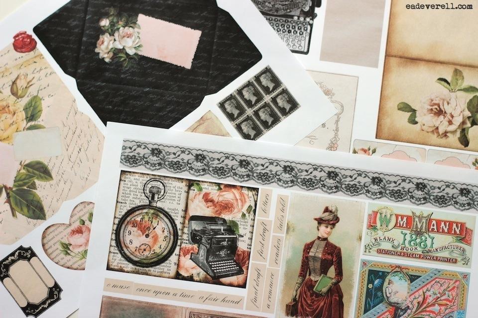 The Lady Writer Printable Journal Kit | creative writing blog