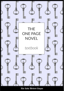 The One Page Novel - learn to plot your novel on one page