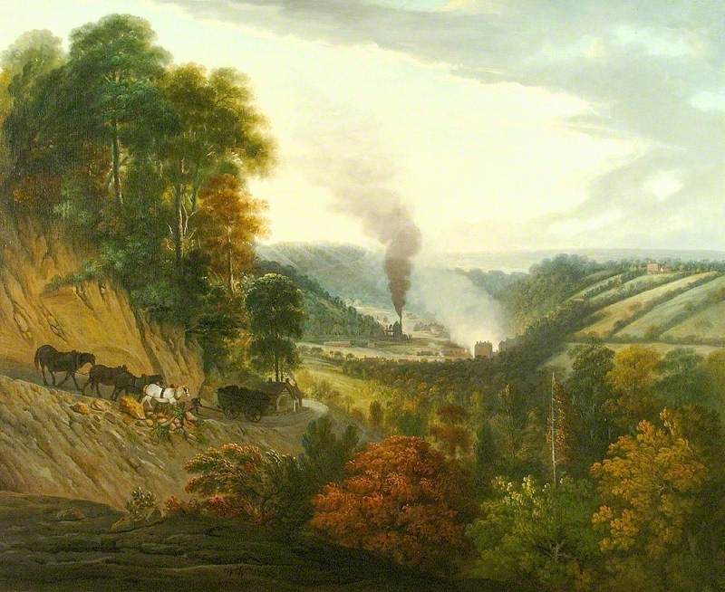 William Williams - Morning View of Coalbrookdale
