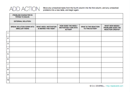 Action Writing Worksheet
