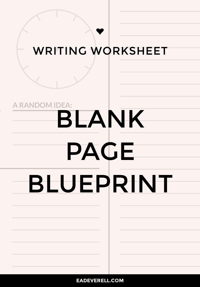 Blank Page Blueprint - writing exercise