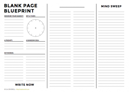 Blank Page Blueprint