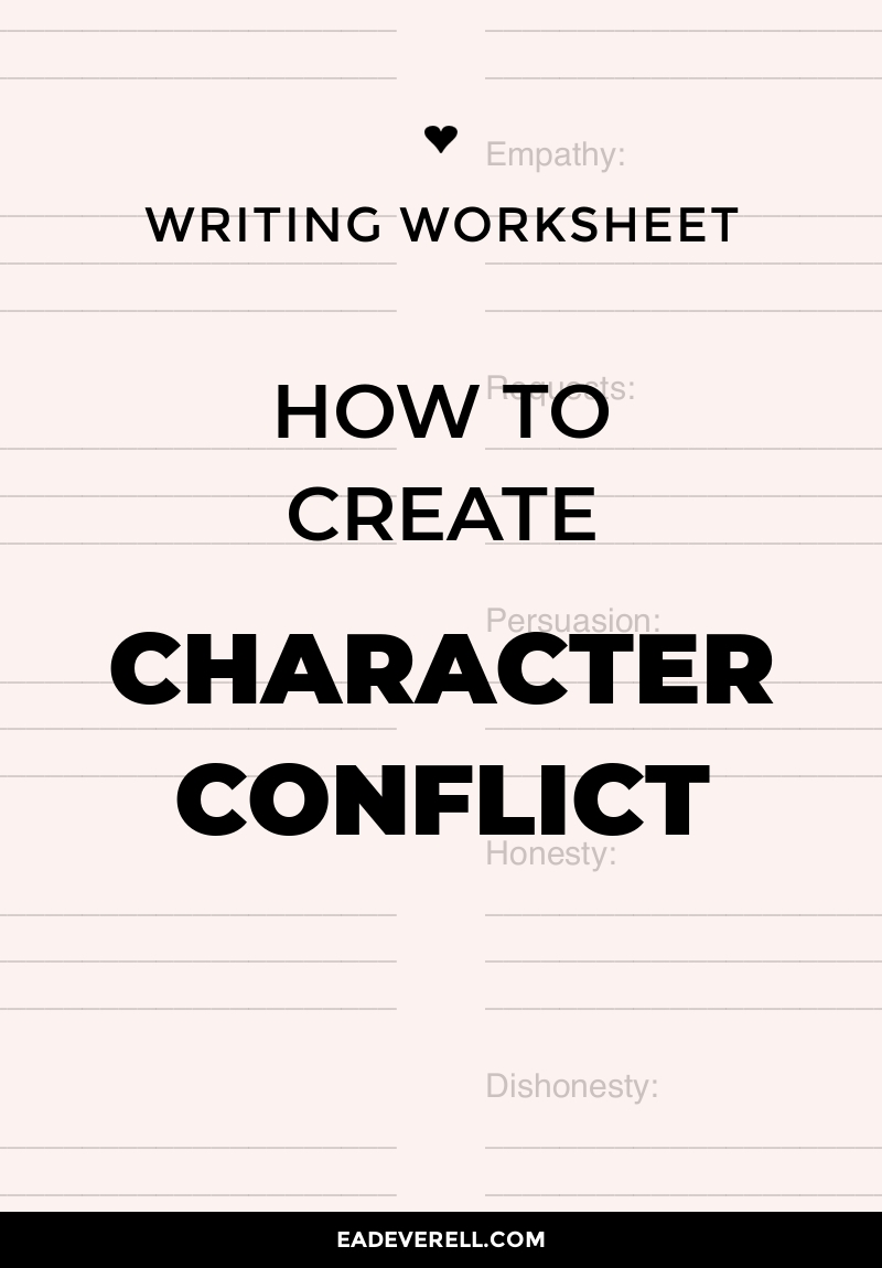Character Conflict Questions & Worksheet
