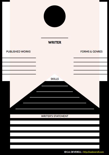 writer worksheet wednesday  curriculum vitae