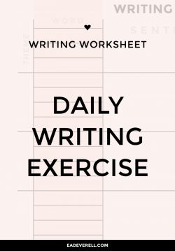 Daily Writing Exercise