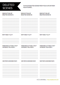 Deleted Scenes Worksheet