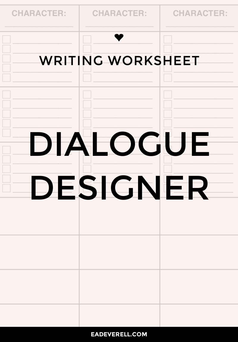 Worksheets Writing Dialogue Worksheet writing dialogue worksheet