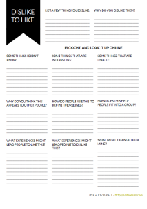 Creative writer worksheet