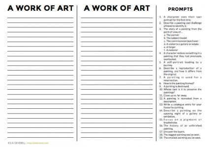 Ekphrasis worksheet