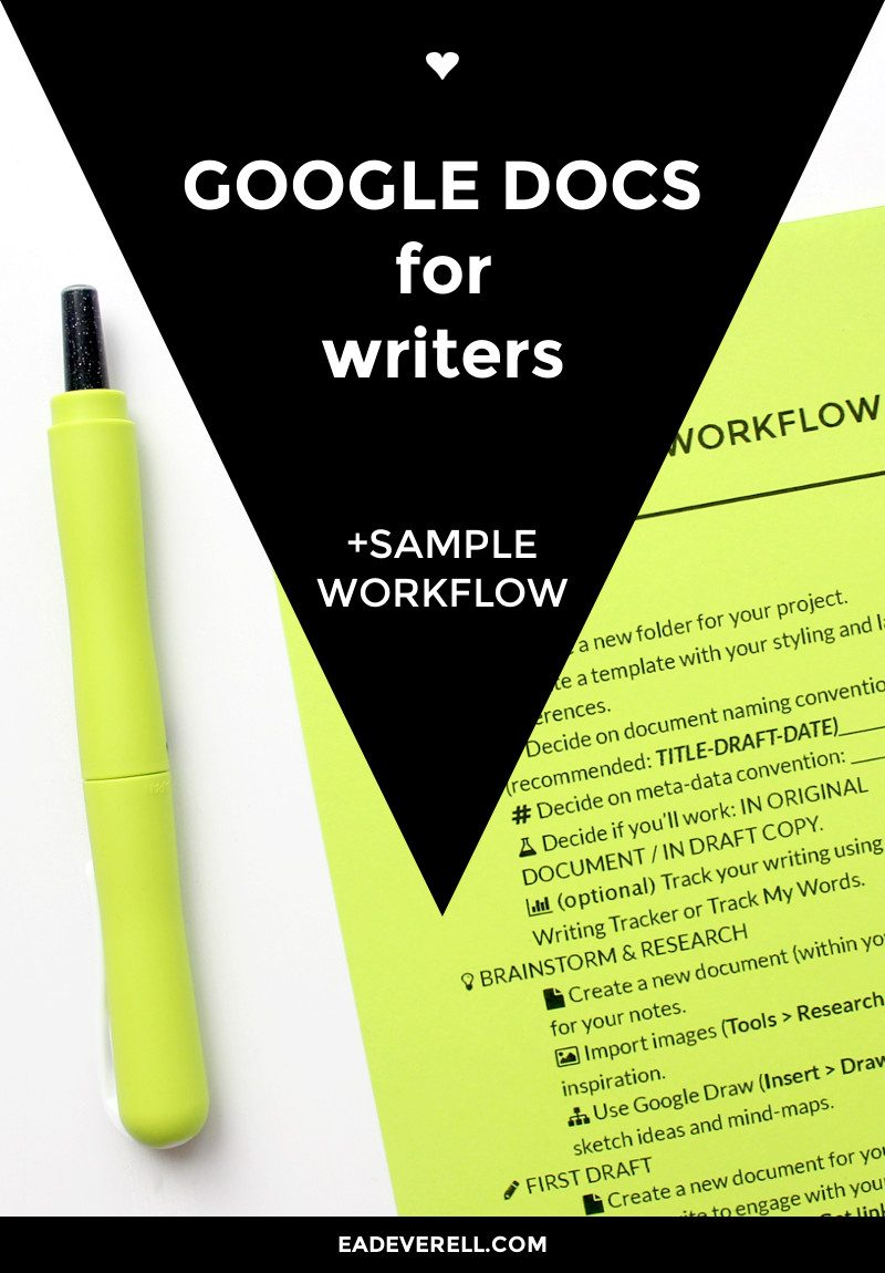 the ultimate guide to google docs for writers workflow video  google docs for writers