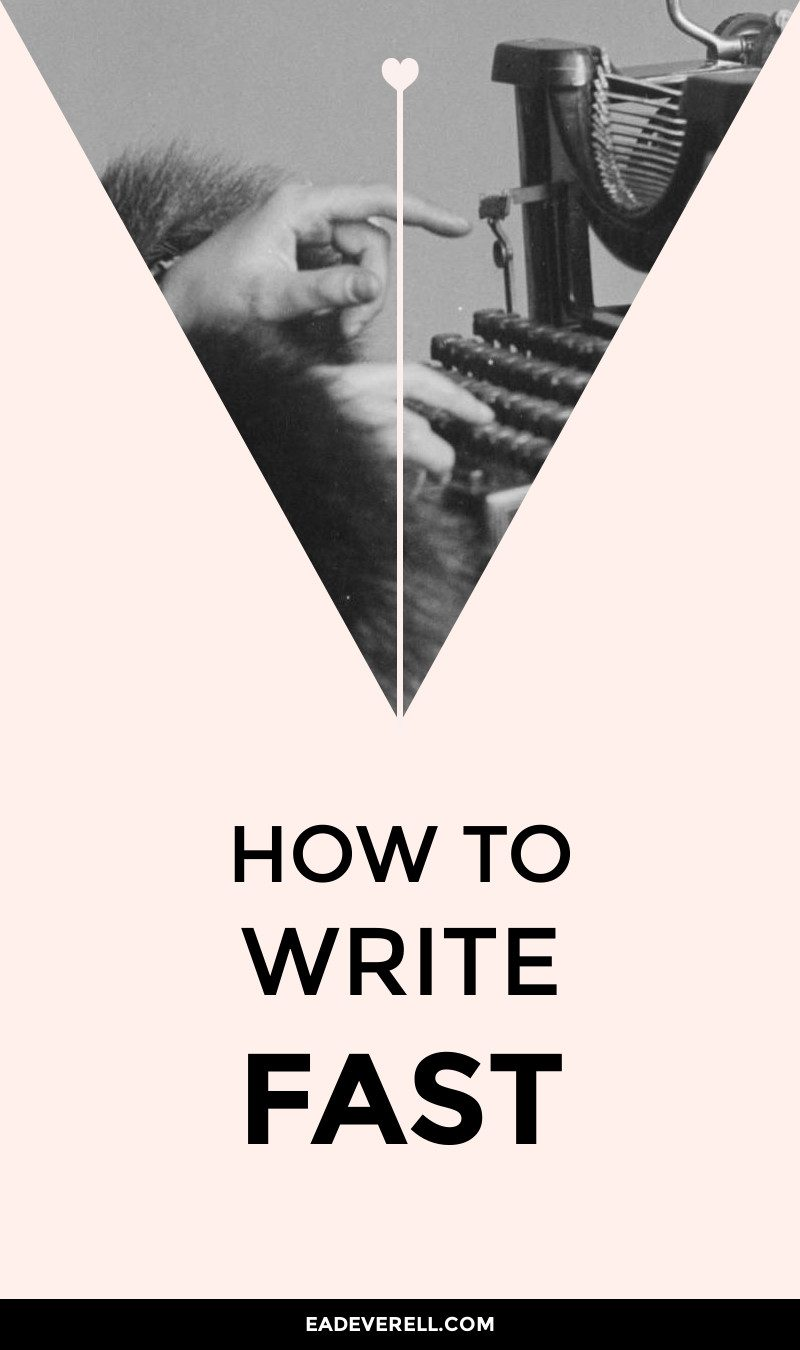 How to Write Your Fastest Story Ever