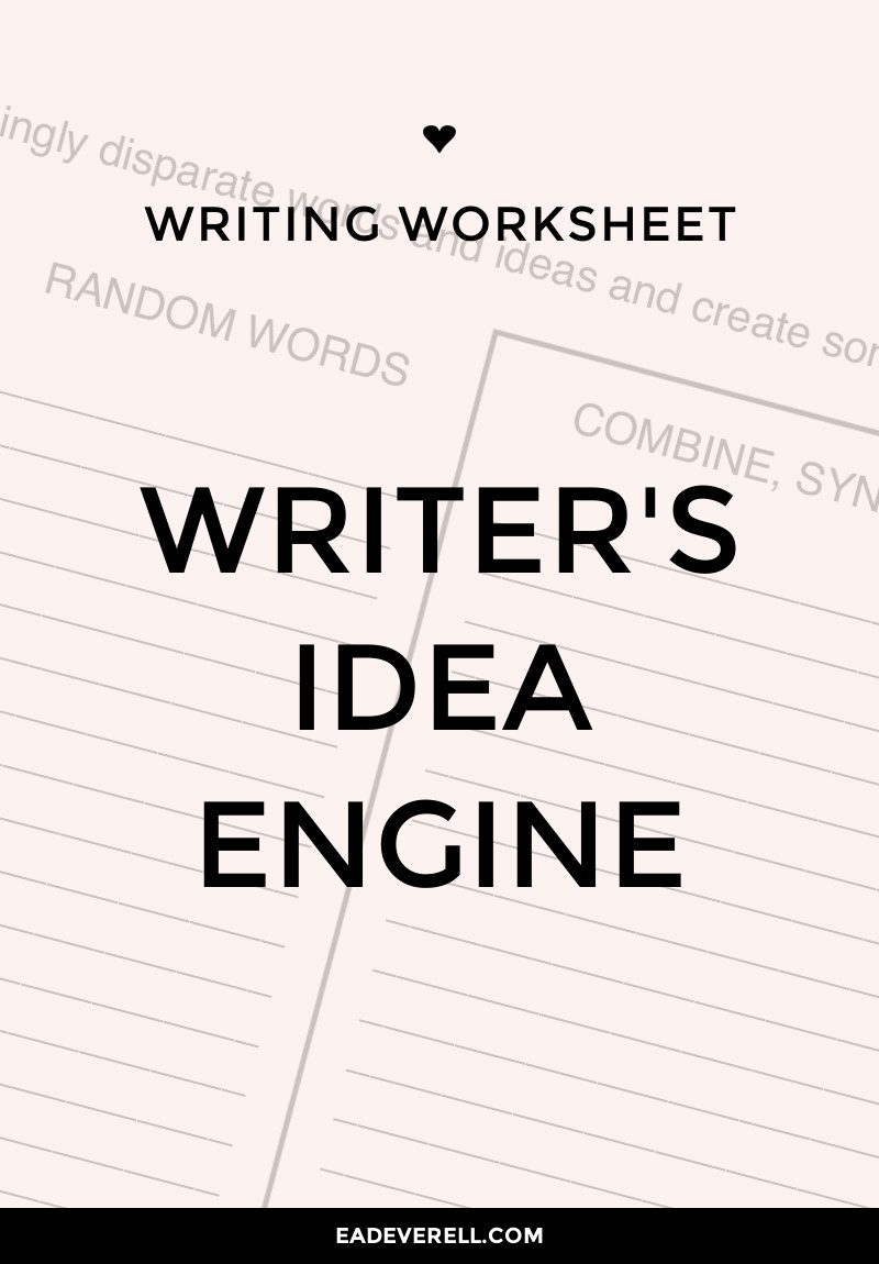 Idea Engine - Writing Worksheet