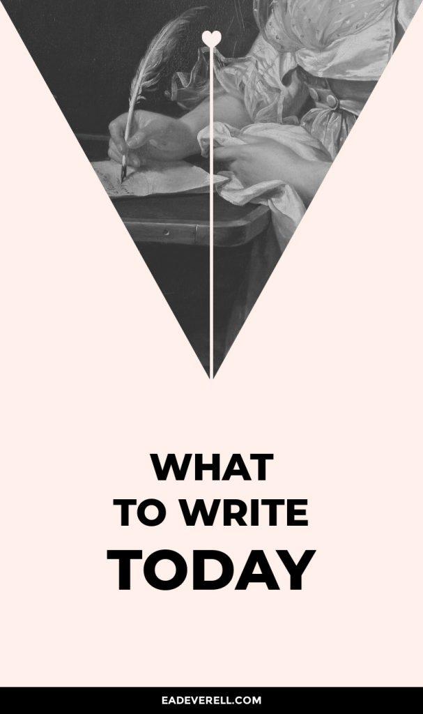Ideas to Start Writing
