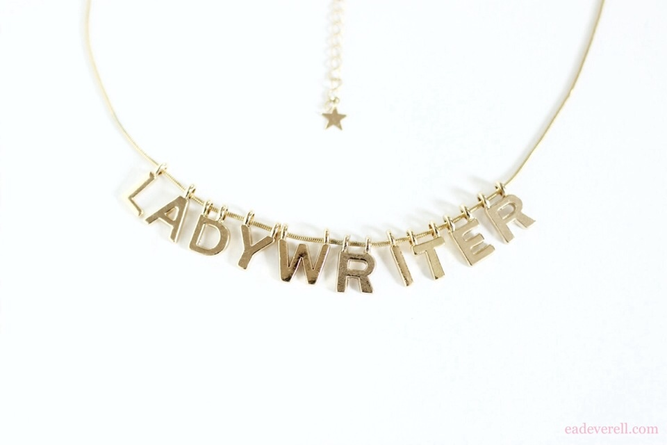Lady writer necklace