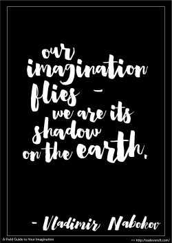 """""""Our imagination flies - we are its shadow on the earth."""" - Vladimir Nabokov"""