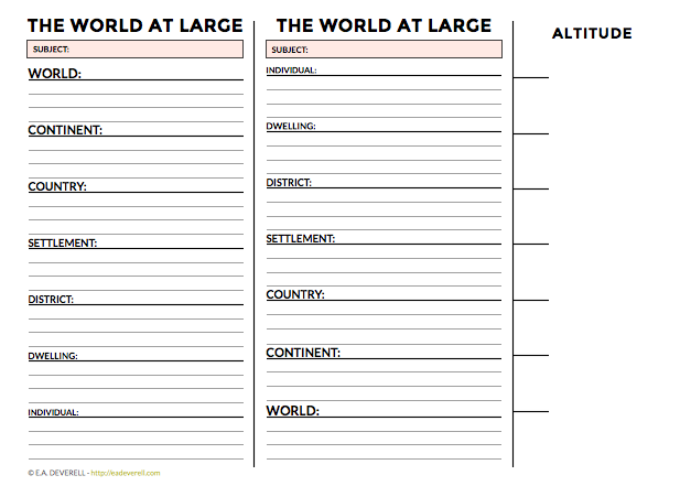 the world at large  journal worksheet wednesday