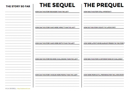 Writing prequels & writing sequels