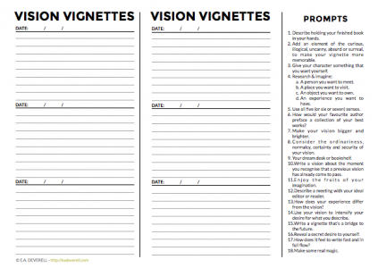 Journal worksheet - vignettes