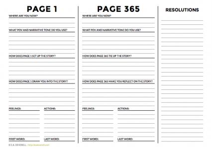 Writing worksheet - page 1