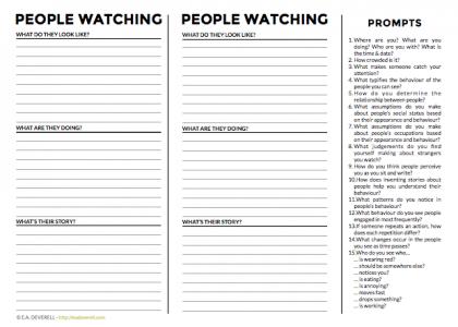 Writing journal worksheet