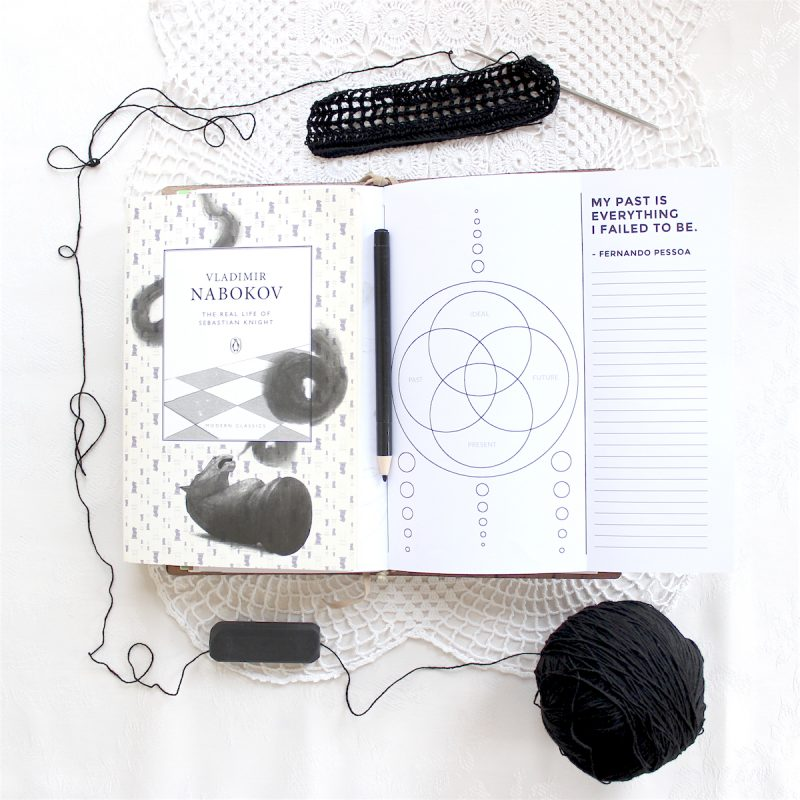 Printable mandala worksheet for bullet journal and traveler's notebook