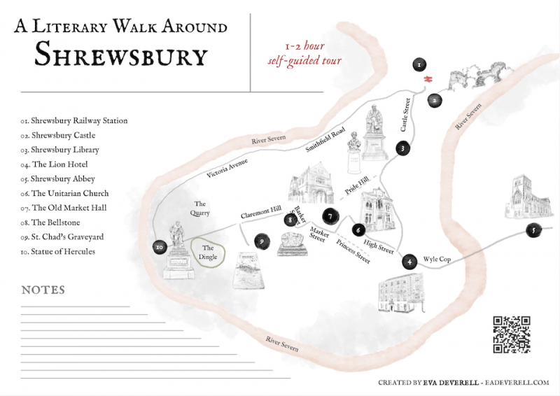 Self-Guided Tour - Literary Walk Around Shrewsbury