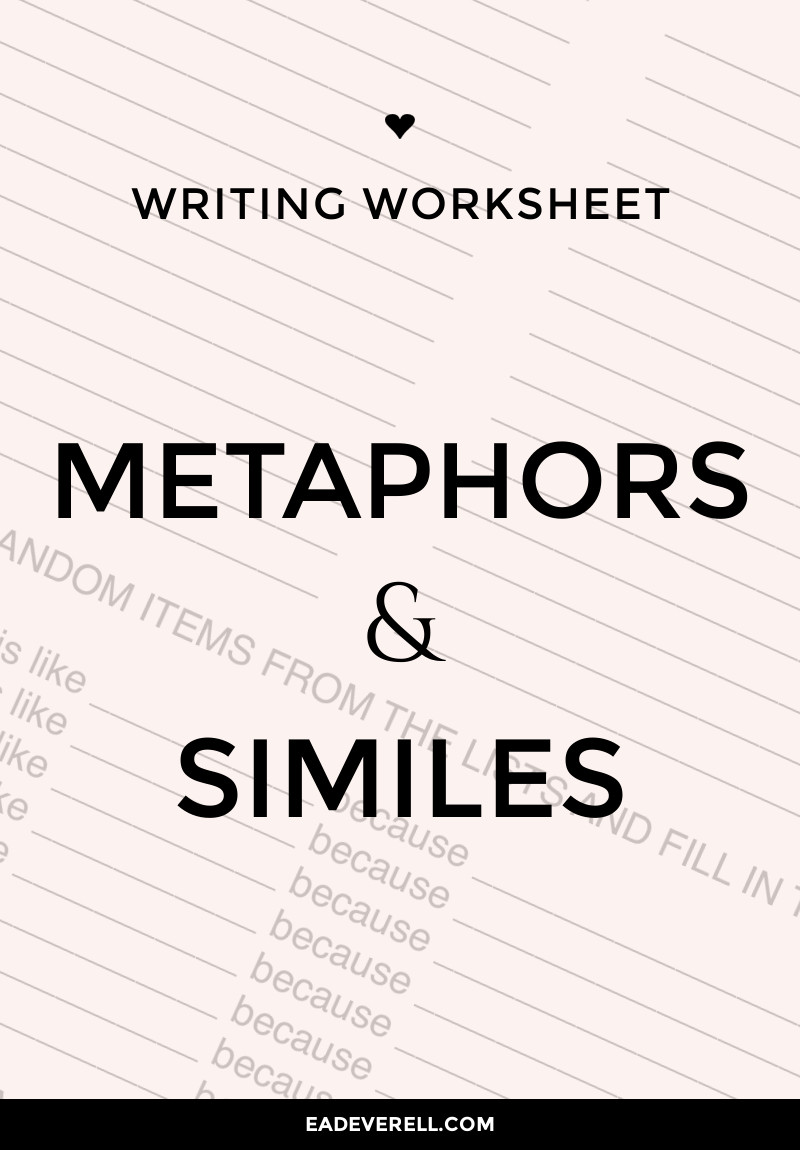 Writing Metaphors & Similes - How to Use Metaphors & Similes in Your Writing