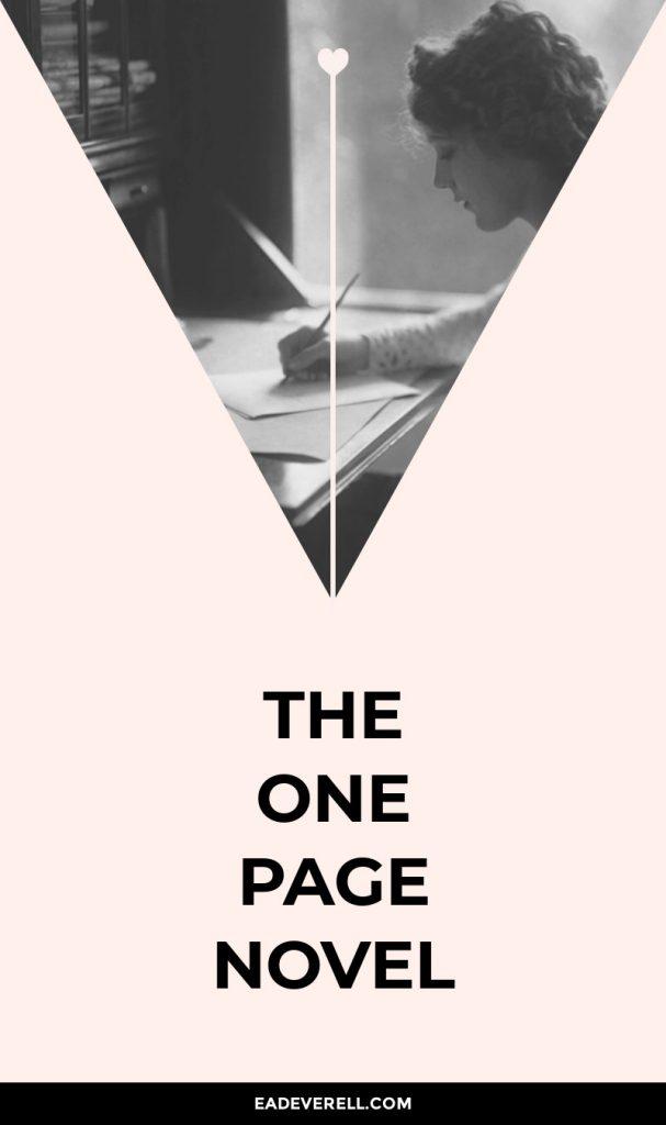 The One Page Novel Plot Formula