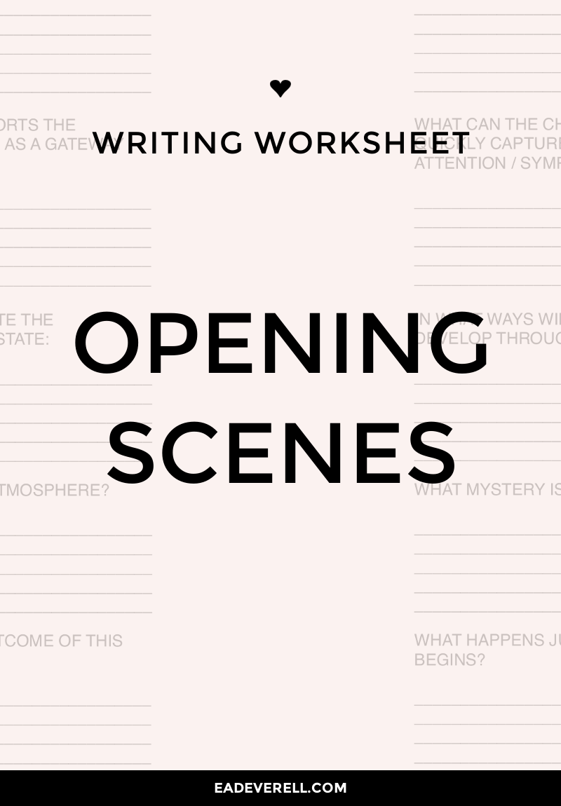 Writing Opening Scenes