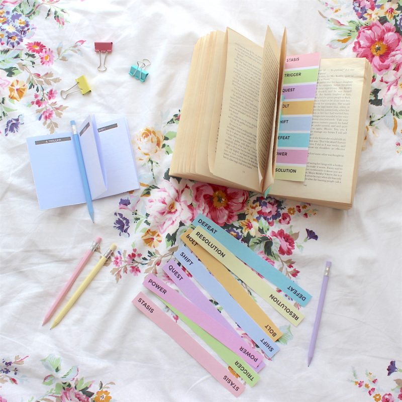 One Page Novel Bookmarks