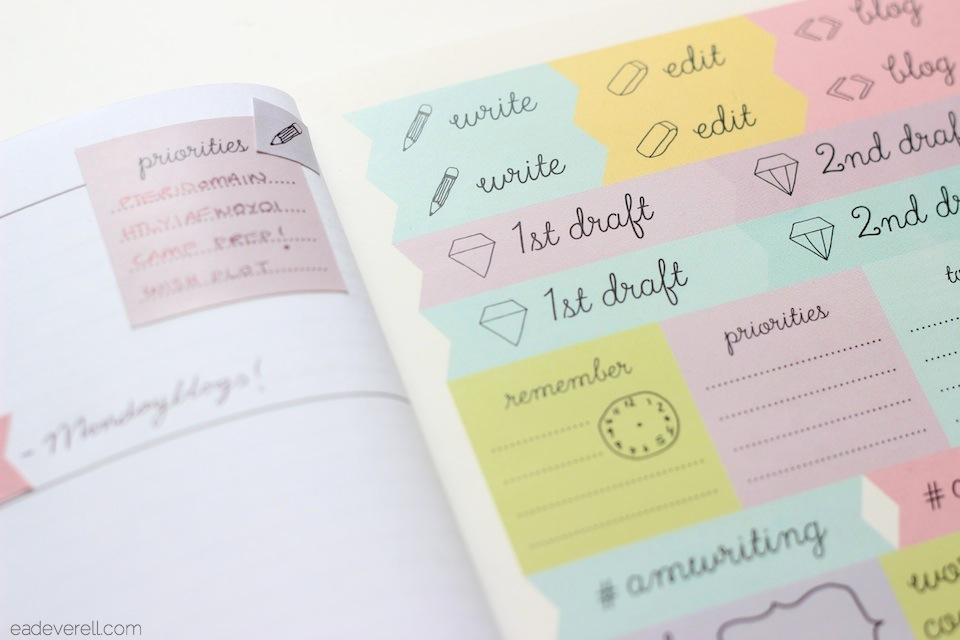 Planner Stickers for Writers