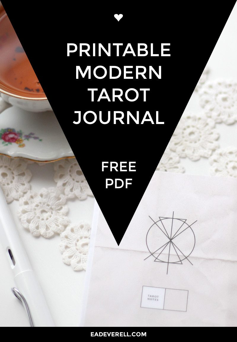 Free Printable Tarot Journal
