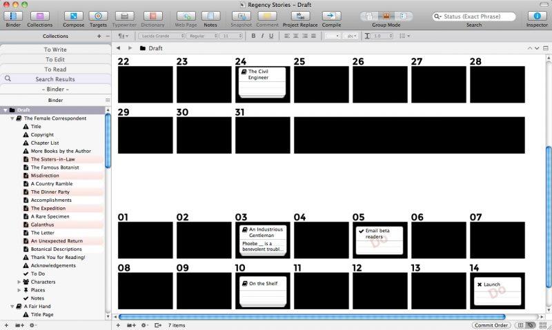 Scrivener Project Management