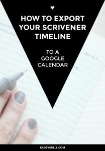 How to Export Your Scrivener Timeline to Google Calendar