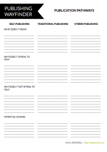 Self Publishing Worksheet