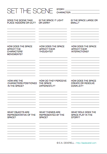 How To Develop The Setting Of A Story [WORKSHEET]