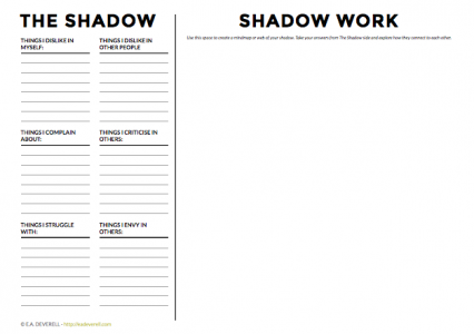 Shadowwork Worksheet
