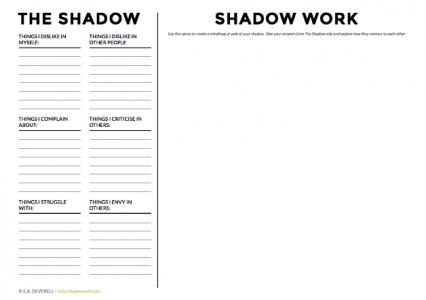 The Shadow Worksheet | creative writing blog