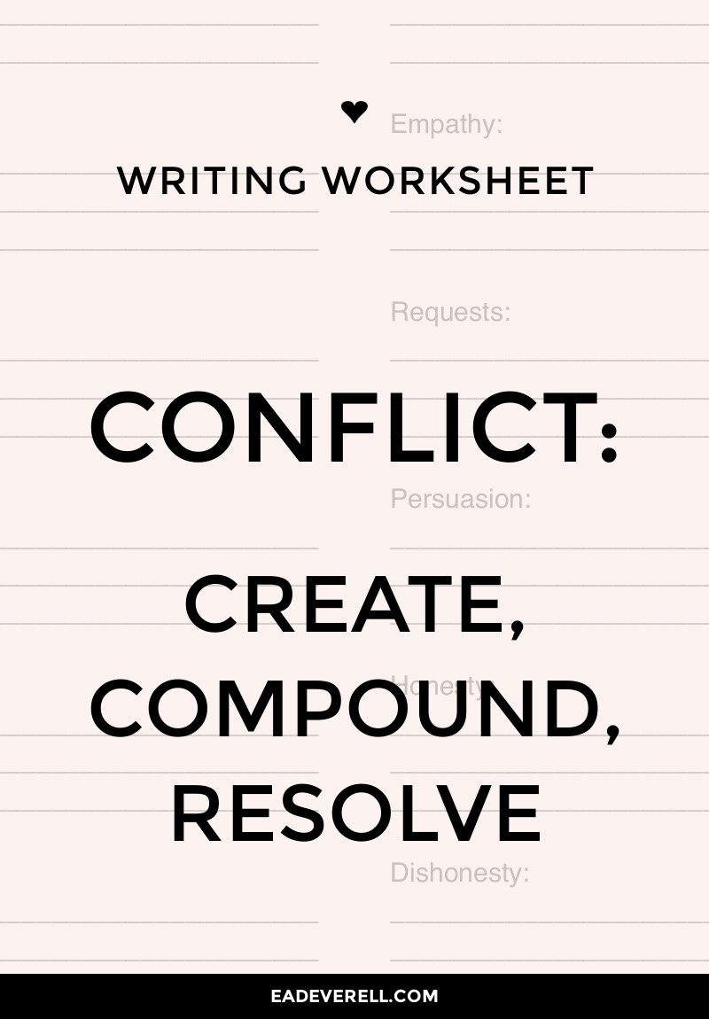 How to Create, Compound & Resolve Conflict in Your Story