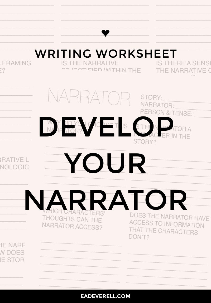 How to Develop Your Story's Narrator