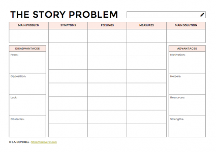 Story Problem Worksheet