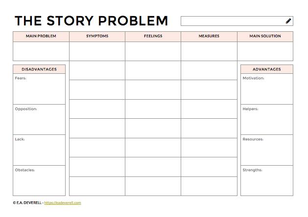 Story Problem Worksheet
