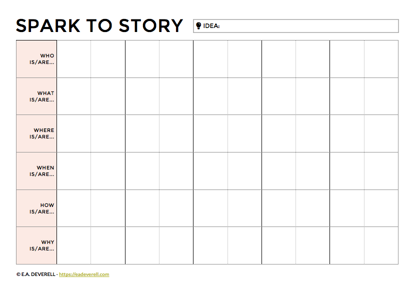 How to Turn an Idea into a Story - Writing Worksheet