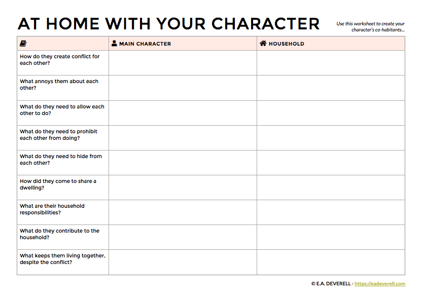 how to create a character u0026 39 s family and household