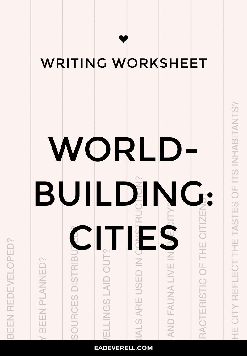 Worldbuilding questions worksheet - cities