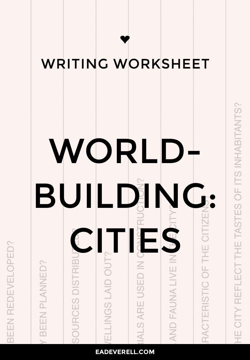 Worldbuilding questions worksheet - cities