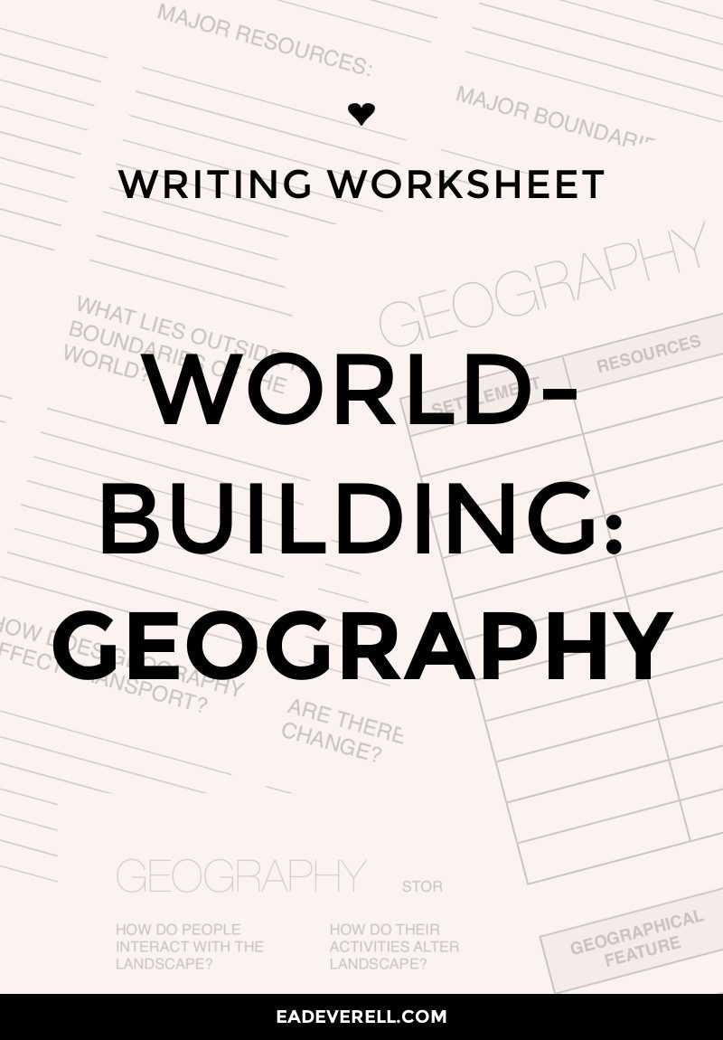 Worldbuilding geography