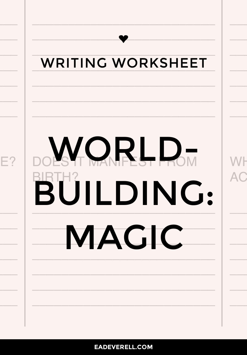 Magic Systems - Worldbuilding
